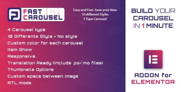 Fast Carousel For Elementor V1.0 Wordpress Plugin