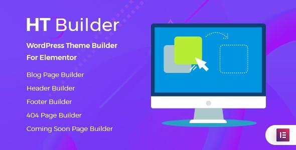 Ht Builder Pro V1.0.0 Wordpress Theme Builder For Elementor