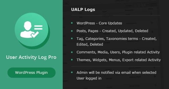 User Activity Log Pro For Wordpress V1.4