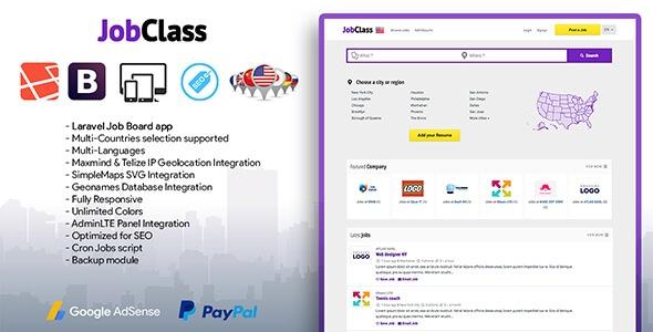 Jobclass Job Board Web Application Free Download