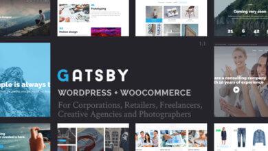 Gatsby Wordpress + Ecommerce Theme V1.5