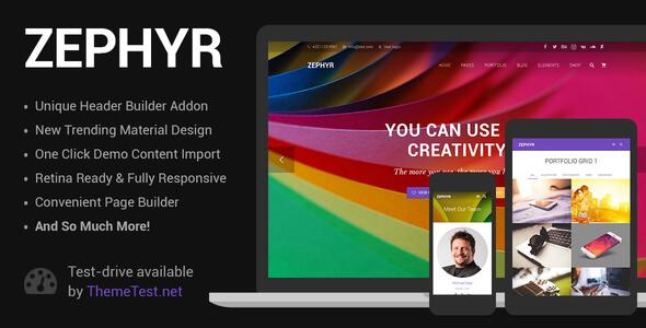 Zephyr | Material Design Theme v7.12